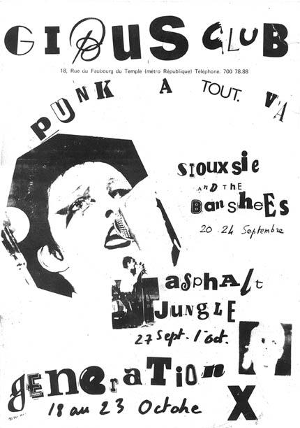 Affiche Concert Punk 1977