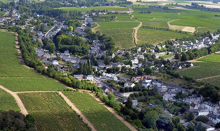 Vue aérienne de Vouvray © Gérard Proust